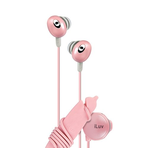 iluv Iep311pnk The Bean In-Ear Stereo Earphone with Volume Control, Pink