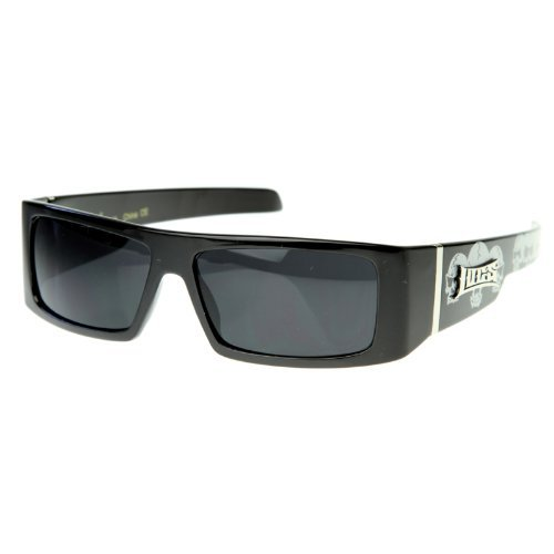 Locs - Official LOCS Hardcore Gangsta Shades Square Sports Frame Sunglasses LOKES (Skulls) (Locs Skull compare prices)