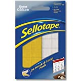 Brand New. Sellotape Sticky Hook and Loop Sets 24 Sets 20x20mm Ref 4542