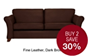 Abbey Large Sofa - Leather