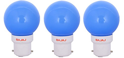 Ping Pong B22 0.5W LED Bulb (Blue, Pack of 3)