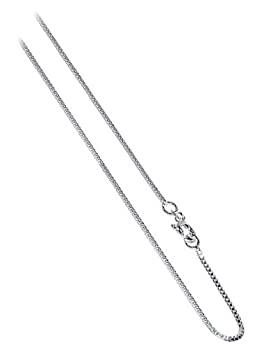 "BOX1MM Nickel Free Italian Sterling Silver 1mm Box Chain 14"" 16"" 18"" 20"" 22"" 24"" 30"" Necklace"