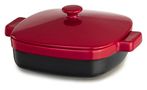 KitchenAid KBMR19CRER Streamline Ceramic Casserole, 1.9-Quart, Empire Red (Red Kitchenaid Microwave compare prices)