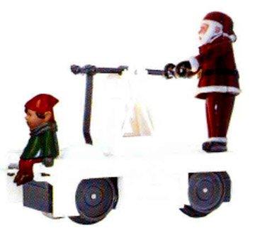 Williams By Bachmann Christmas Santa & Elf O Scale Operating Handcar