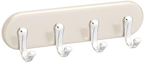 Interdesign 55470EU York Rangement Magnétique de Clés avec 4 Crochets ABS Acier Inoxydable Brossé/Chrome 3,05 x 17,78 x 13,97 cm