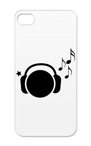 Listening To Music Black Protective Hard Case For Iphone 5S I Pod Ipod Guitar Mp3 Apple Pops Musical Rock Metal Top Fun Headphones Cool Music Mac Rock Decks Classical Punk Dj Funky Djs Pop