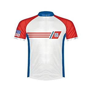 Primal Wear Mens U.S. Coast Guard Vintage Cycling Jersey by Primal Wear