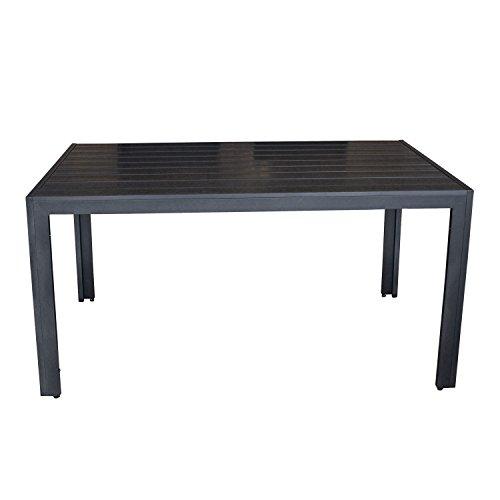 Wohaga-Gartentisch-Terrassentisch-mit-Polywood-Non-Wood-Tischplatte-150x90cm-Aluminium-Schwarz-Terrassenmbel-Gartenmbel