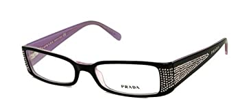 AUTHENTIC PRADA EYEGLASSES VPR 19I BLACK OBL-101 VPR19I