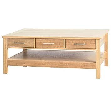 LPD Furniture Oakridge tavolino, 3cassetto in legno di quercia