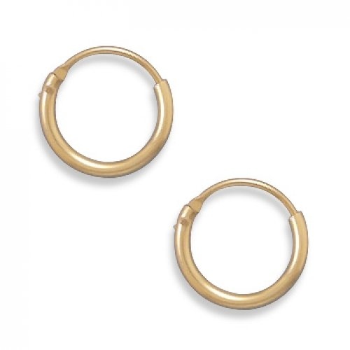 MMA Silver - 12/20 Gold Filled 1mm x 11mm Hoops