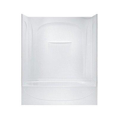 Acclaim Bath/Shower Kit Base Finish: High Gloss White, Drain Configuration: Left Hand