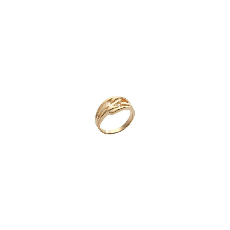 Ladies 18K Gold Plated Lace Band Ring
