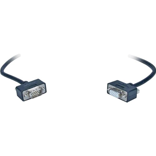 35' High-Performance Ultra Thin Vga/Qxga Hd15 Male To Female Tri-Shield Cable