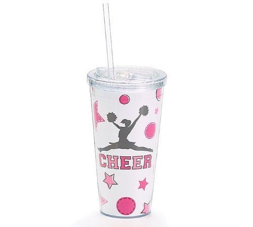 """Cheers"" Insulated 20 oz Cheerleader Travel Mug/Cup"