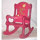 Personalized Pink and Posies Rocking Chair- size: 10inches high x 11.5inches wide