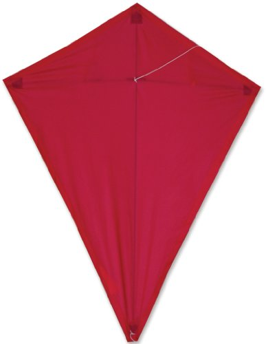 Premier 15471 25-Inch Diamond Kite with Solid Fiberglass Frame, Red