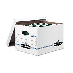 Hang \'N\' Stor Storage Box, Legal/Letter, Lift-off Lid, White/Blue, 4/Carton