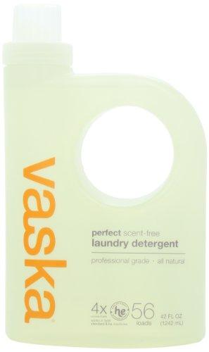 vaska Perfect Laundry Detergent, Scent Free, 42 Fluid Ounce