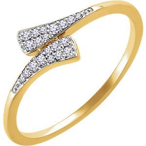 14kt Rose 1/10 CTW Diamond Ring