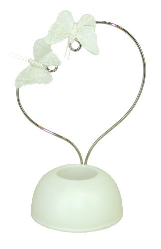 Best Occasions Floral Heart Cake Topper W/ Butterflies