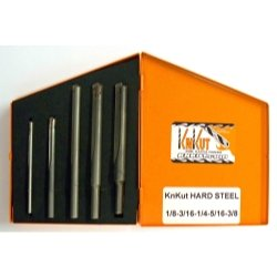 Knkut 5 Piece Carbide Tipped Hard Steel Drill Bit Set 5 Piece Jobber Length Carbide Tip Drill Bit S
