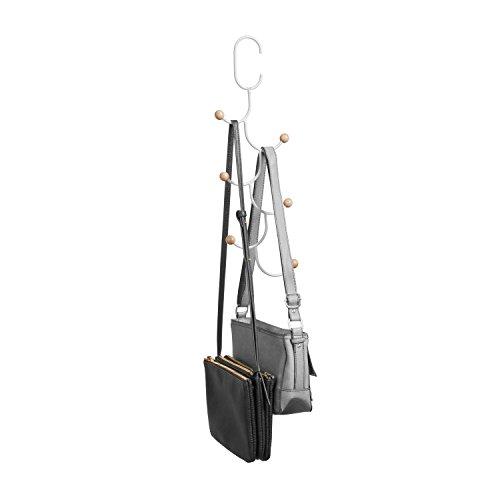 Umbra 1004046-660 Estique Handtaschenhalter, Metall, weiß, 41,8 x 12,49 x 2,48 cm