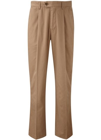 Austin Reed Wrinkle-Free Tan Single Pleat Trouser REGULAR MENS 34