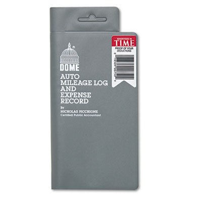 Dome 750 Mileage Log/Expense Record, 3.5 x 6.5 Inches, Logs 324 Trips (DOM750)