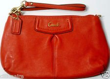 Coach Large Wristlet In Orange 48103 front-402228