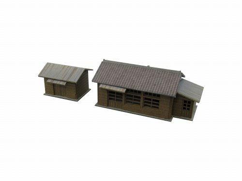 -1 Hut and track maintenance Petit ? miniature 1/220 (Paper) - 1
