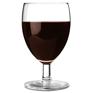 Sologne wine glasses 190ml pack of 12 short stemmed wine goblets red wine glasses - Short stemmed wine glasses uk ...