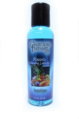 Water Base Naturally Flavored Warming Lubricant Razzels Tropical Teeze 2Oz