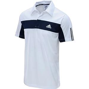 Buy Adidas Mens Tennis Galaxy Polo (White Collgiate Navy) by adidas