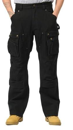 Carhartt Pantalon de travail Duck Tech poches multiples- Noir