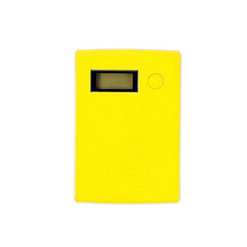 Hilloavenue 10400Mah Dual Usb 1.0A/2.1A Usb Output With Digital Display Compact High Capacity Power Bank Portable External Battery Charger Pack For Cell Phones Tablets, Camera, Game And Other Usb-Charged Devices (Yellow)