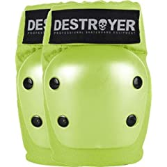 Buy Destroyer Recreation Lime Medium Elbow Skateboard Pads by Destroyer