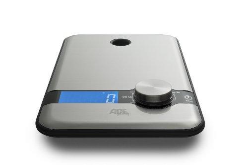 ADE Design Mara Balance de cuisine avec bouton rotatif en plusieurs couleurs 150 x 240 x 17 mm acier inoxydable