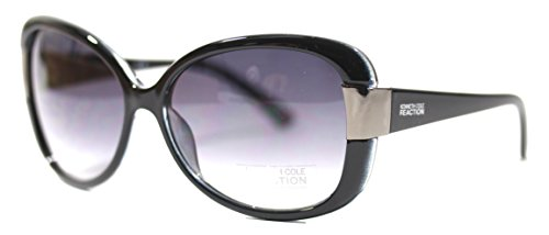 Kenneth Cole Reaction Rectangle Black Plastic Sunglass, Gradient Lens Kc1251 3B