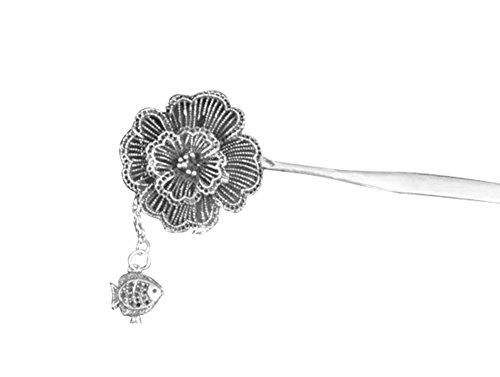 100 fait main accessoire cheveux vintage bijoux originaux barrette argent 103 bijouterie. Black Bedroom Furniture Sets. Home Design Ideas