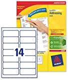 Avery L7163-40 - QuickPEEL Address Labels 99x38mm L7163-40 (560 Labels)