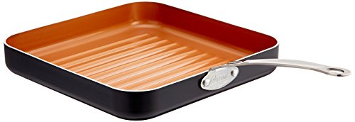GOTHAM STEEL 10.5-inch Non-Stick Grill Pan with Ti-Cerama Surface, Copper (Copper Grill Pan compare prices)