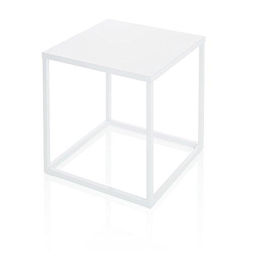 Beistelltisch-Wrfel-Metall-wei-ca-45x45x45-cm