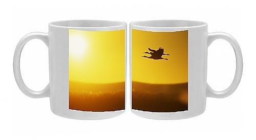 Photo Mug Of Sandill Cranes In Flight At Dawn front-573615