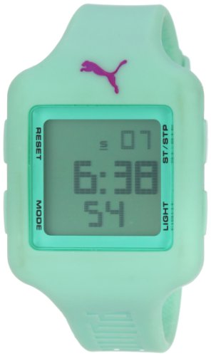 PUMA Women's PU910792009 Slide  Light Green Digital Watch