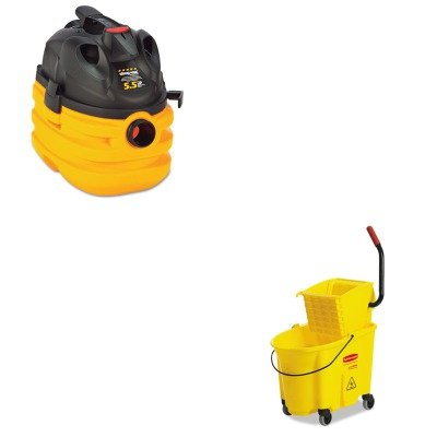 Kitrcp758088Ywsho5872410 - Value Kit - Shopvac Heavy-Duty Portable Wet/Dry Vacuum (Sho5872410) And Rubbermaid Wavebrake Yellow 35 Quart Side Press Mop Bucket Combo (Rcp758088Yw) front-519031