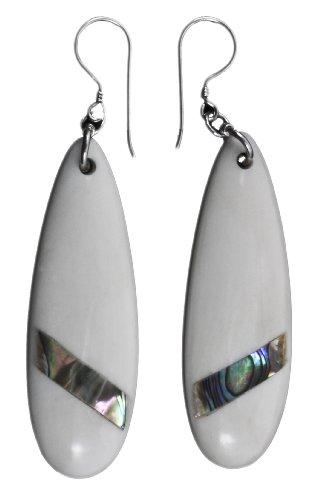 White Raindrop Earring Organic Jewelry of Bali