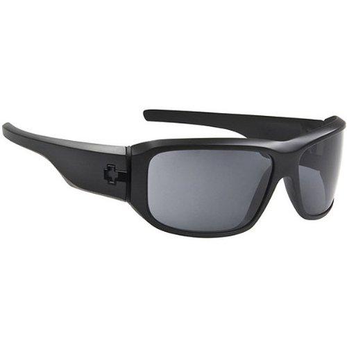 Spy Lacrosse Sunglasses - Spy Optic Addict Series Polarized Sportswear Eyewear - Color: Matte Black/Grey, Size: One Size Fits All