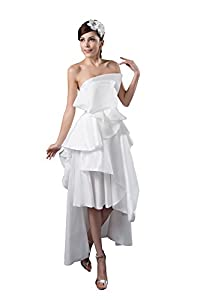 Strapless Satin Taffeta Ruched Sleeveless Evening Dress