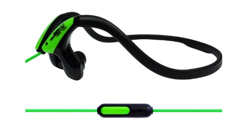 Urbanz Sportz Running Sports Gym Neckband Headphones (Green - With Mic)